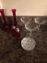 red depression glass salt and pepper shaker set Alexandria, 22308