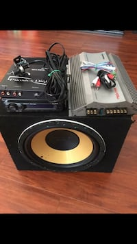 black and yellow speaker with gray power amplifier Los Ángeles, 91601