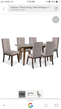 Rectangular dining table with 6 chairs Toronto, M4P