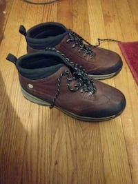 pair of brown leather work boots Rocky Mount, 27804