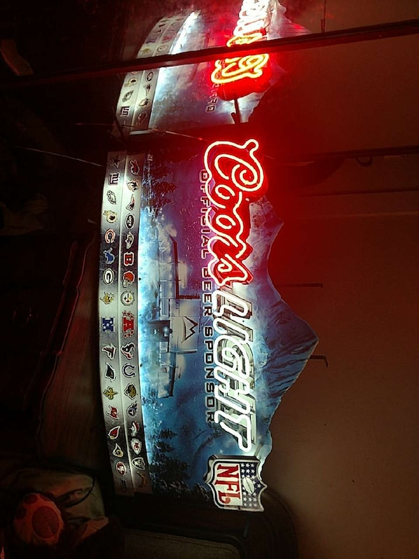 Coors light neon signage