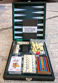Brand new in case backgammon 6 games in 1 set Knightdale, 27545