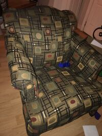 Black and brown fabric sofa chair Germantown, 20874