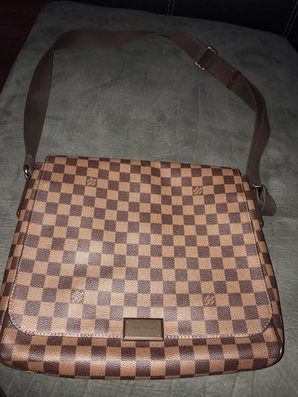 4d98796845bc Used Damier ebene louis vuitton leather crossbody bag for sale in ...