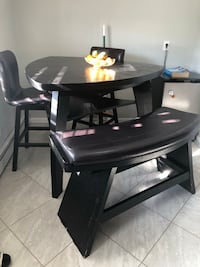Black table with two seats and two benches Melville, 11747