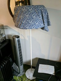 white and blue floral print floor lamp Portland, 97201