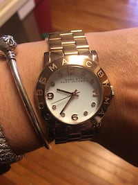 round silver-colored Rolex analog watch with link bracelet Centreville, 20120