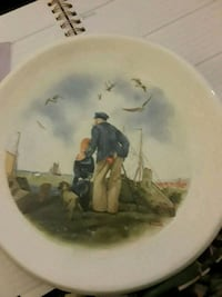Norman Rockwell decorative plate Quincy, 02169
