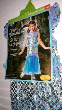 3 to 4 years old girls Halloween costume magical mermaid  Brampton, L6S