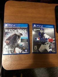 two Sony PS4 game cases Winnipeg, R2K 4A1