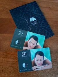 2 Gift Cards For Montreal/Laval Spa Value Of 100$