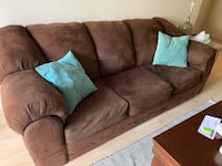 Queen-size Brown Suede Pullout Couch/Sofa Las Vegas, 89107