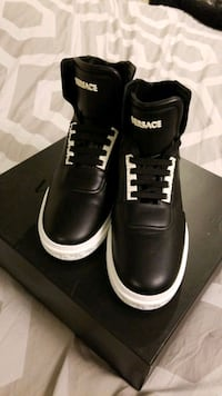 NEW! Versace Mens Leather Hightop Sneakers Mississauga, L5M 0B7