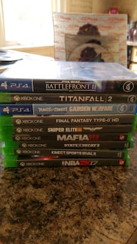 Ps4 xbox 1 games Greater Sudbury, P0M 1S0