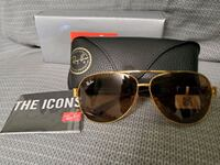 brown/gold RAY-BAN AVIATOR RB 3533 brand new