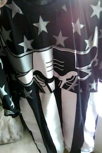 black and white star print long-sleeved shirt Germantown, 20874