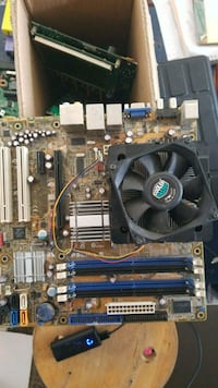 Asus p5lp-led motherboard with processor and sink
