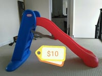 blue and red Little Tikes slide London