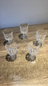 5 Cut-crystal Liqueur Glasses Toronto, M4M 3A1