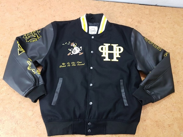 Black and yellow  letterman jackets