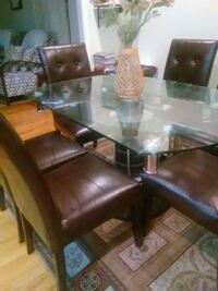 rectangular glass top table with four chairs dining set Woodbridge, 22192