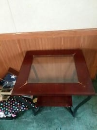rectangular brown wooden framed glass top coffee table West Monroe, 71291