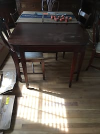 rectangular brown wooden table with four chairs dining set Mechanicsville, 23111