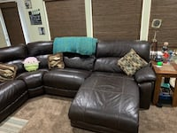 Chocolate leather power reclining sectional Mount Vernon, 98274