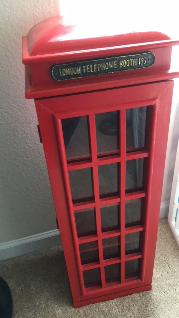 London Phone Booth Cabinet