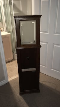 brown wooden display cabinet Kitchener, N2A 3Z4
