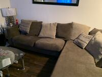 black and gray sectional couch Coconut Creek, 33073