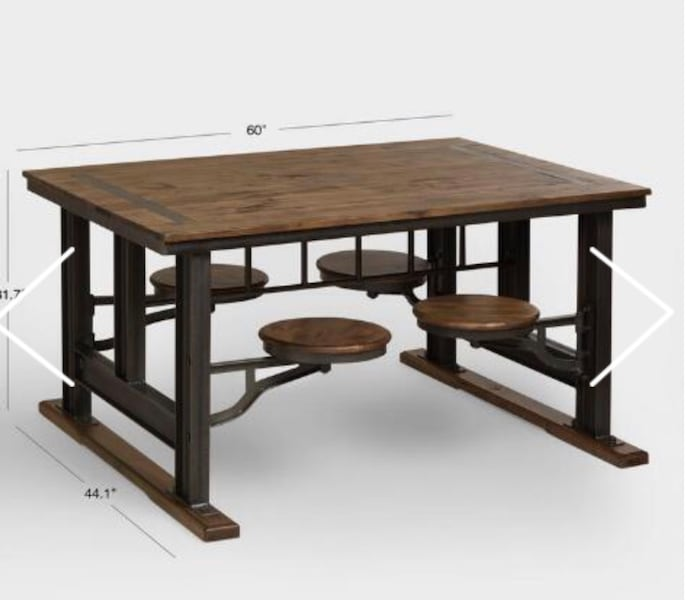 World Market Galvanized Stool Table dinner 05a9391c-e0ee-44ee-8095-219bc78b28c9