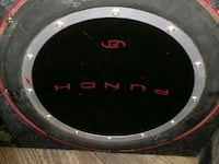 black and gray Punch subwoofer Sacramento, 95821