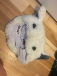 white animal plush toy 3119 km
