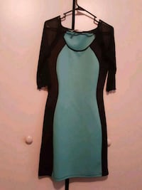 Turquoise and black bodycon dress Greater Northdale, 33624