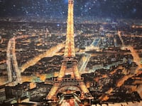 "Paris Canvas Art with silver sprinkles 47""x 23.5"" Chicago, 60632"