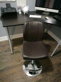 Brown leather counter stool. Hardly used.