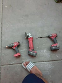 two red and gray power tools Las Vegas, 89121