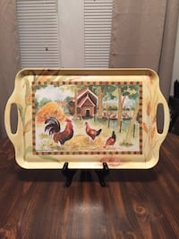 Rooster & Hen serving tray Picayune, 39466