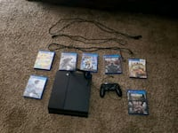 black Sony PS4 with Dualshock 4 and 7 games  Mobile, 36608