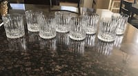 8 low ball drinking glasses