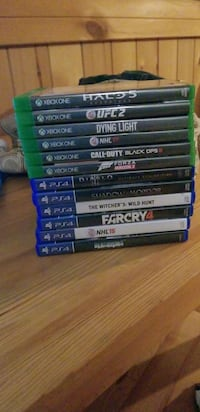 assorted Xbox One game cases Port Perry, L9L 1B6