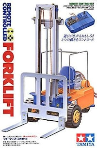 Tamiya Remote Controlled Forklift Brand New & Sealed! ONE LEFT!  FEATURES Uses three motors to simulate the movements of a full sized forklift. Forward/reverse movement, steering and lift operation can be controlled by a 3-channel remote control box. Silv Toronto