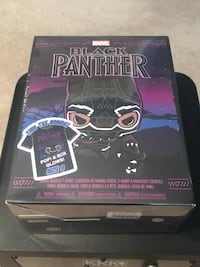 Funko  Pop Limited Edition Black Panther Figure and Tee Herndon, 20170