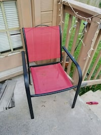red and black metal armchair Austin, 78749