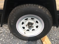 white bullet hole car wheel with tire Silver Spring, 20902