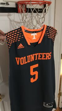 orange and black Adidas Volunteers 5 jersey