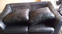 Leather couch and love seat set super comfy CALGARY