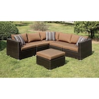 Brown Outdoor Sectional With Ottoman  San Diego, 92126