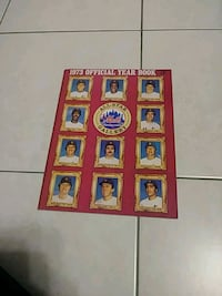 Mets 1973 official year book North Bergen, 07047